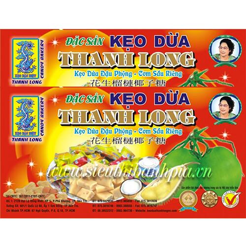 Kẹo dừa đậu phộng cơm sầu riêng