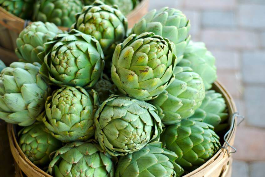 Bông atiso tươi được sử dụng trong ẩm thực