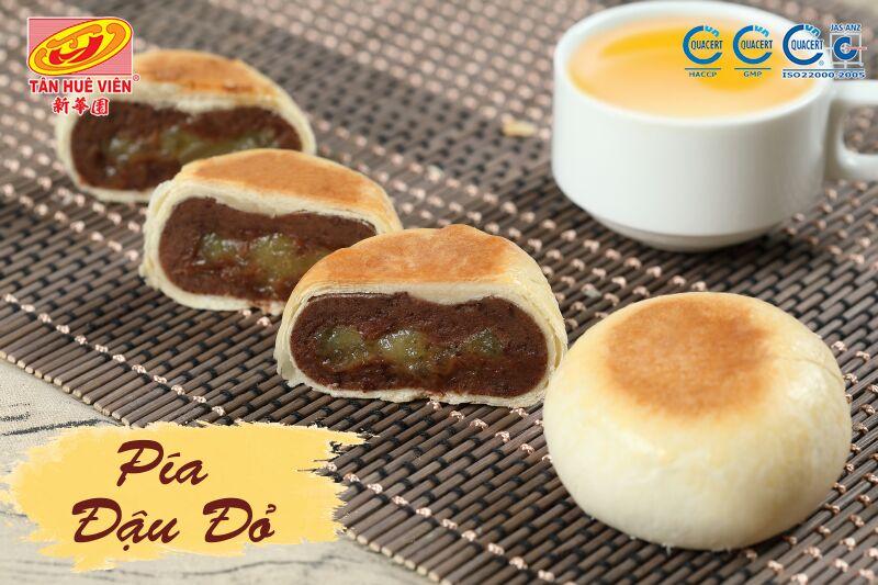 Bánh pía chay đậu đỏ Tân Huê Viên