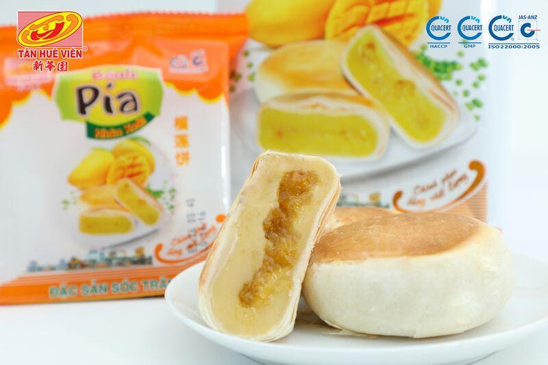 bánh pía chay xoài Tân Huê Viên